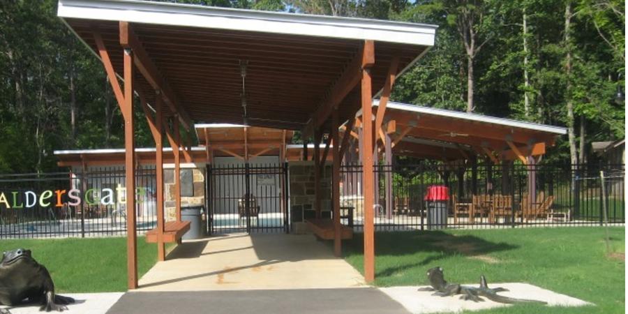 Camp Aldersgate wedding Arkansas