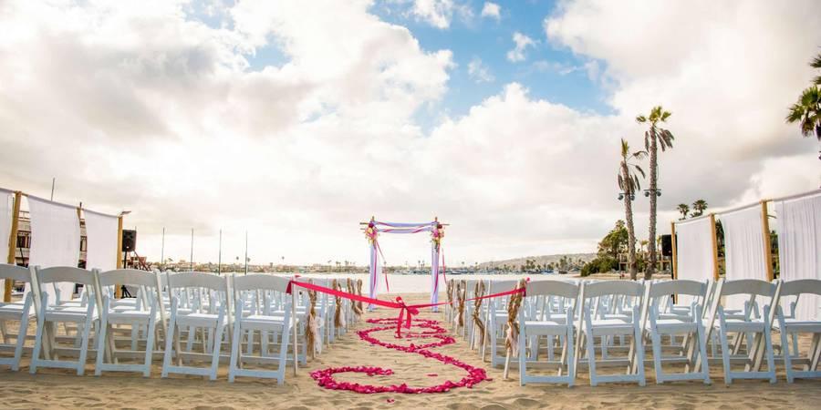 Bahia Resort Hotel wedding San Diego