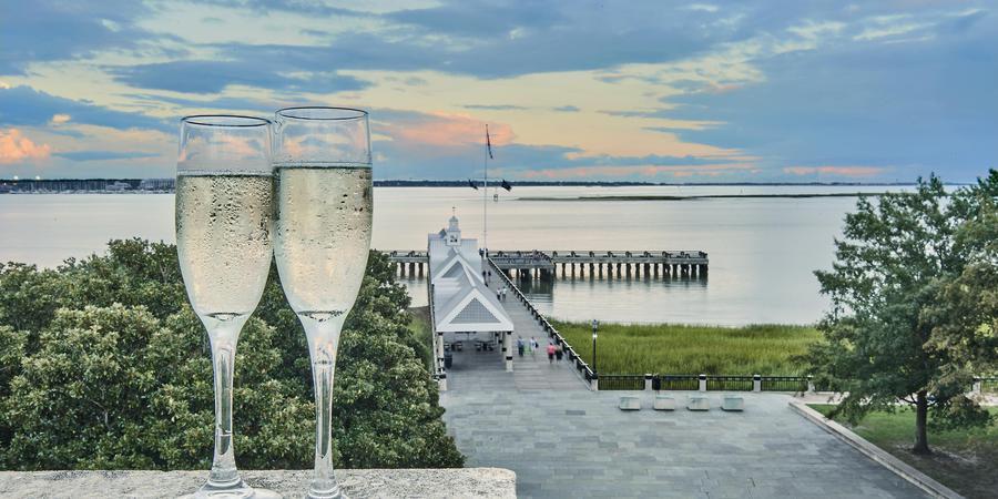 HarbourView Inn wedding Charleston