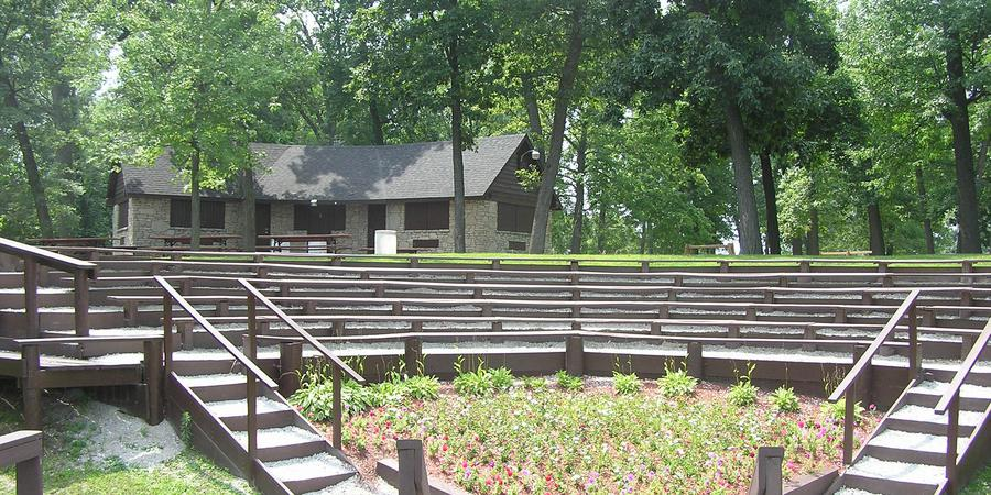 Lucerene Park Amphitheater wedding Northeast Indiana