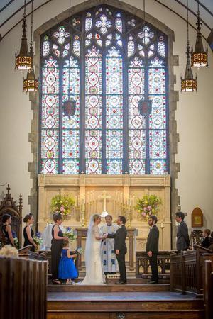 Trinity Episcopal Church Asheville wedding Asheville