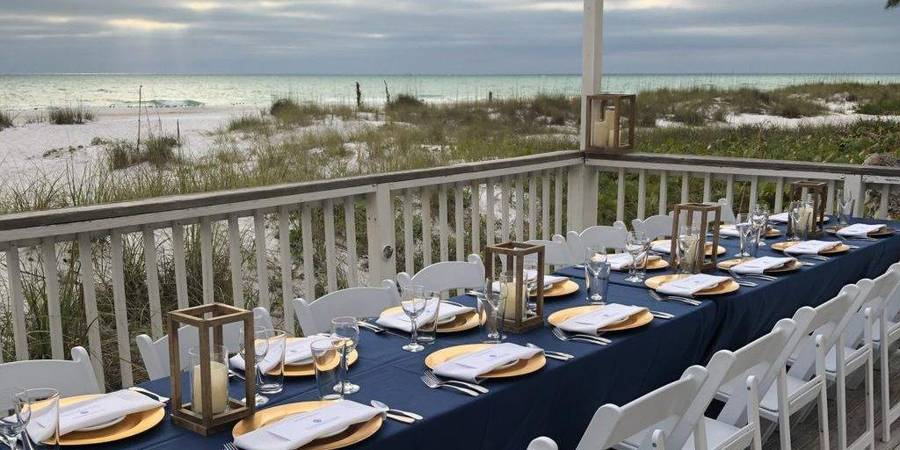 The Sunset Deck at The Beach House wedding Tampa
