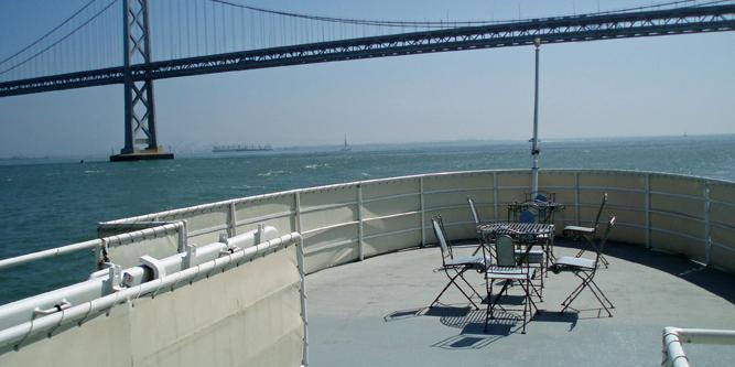 USS Potomac wedding East Bay