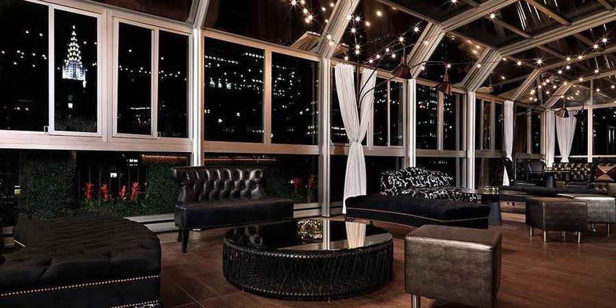 Upstairs at the Kimberly Hotel wedding Manhattan