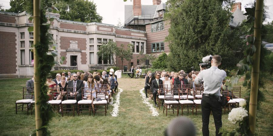 Dane Estate at Pine Manor College wedding Boston