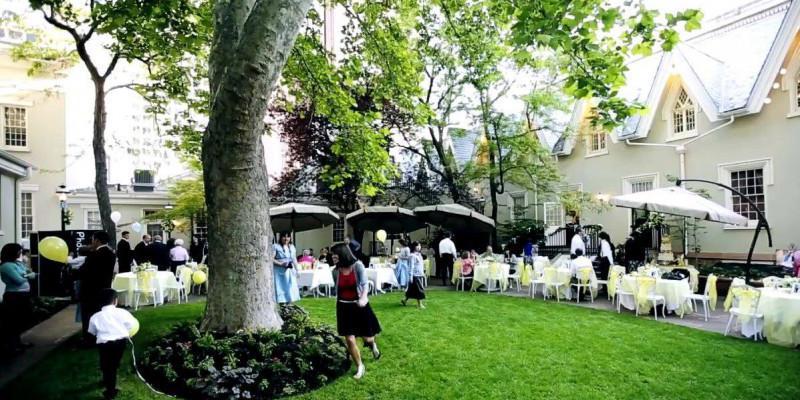 The Lion House & Outdoor Garden wedding Salt Lake City
