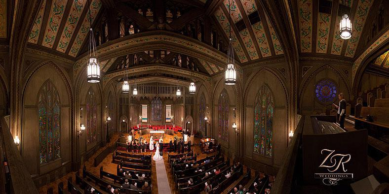 First United Methodist Church at the Chicago Temple wedding Chicago