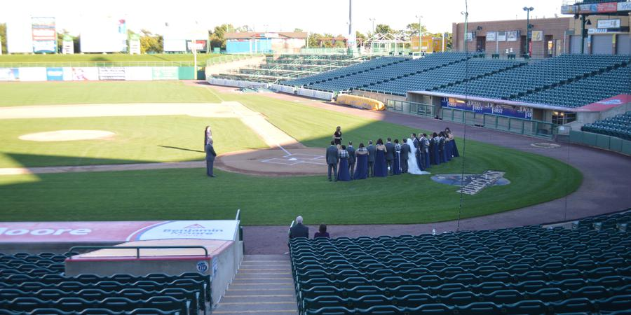 Lakewood BlueClaws at FirstEnergy Park wedding Jersey Shore