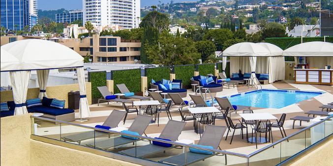 Le Montrose Suite Hotel wedding Los Angeles