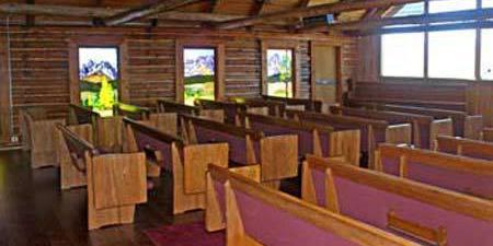The Sawtooth Valley Meditation Chapel wedding Idaho