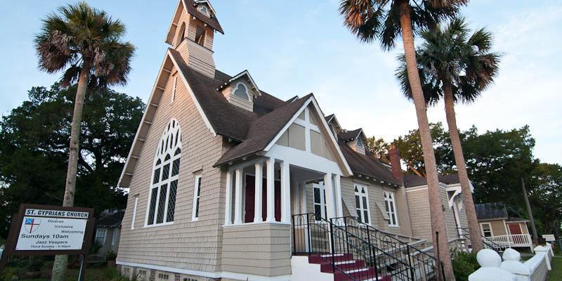 St. Cyprian's Episcopal Church wedding Northwest Florida