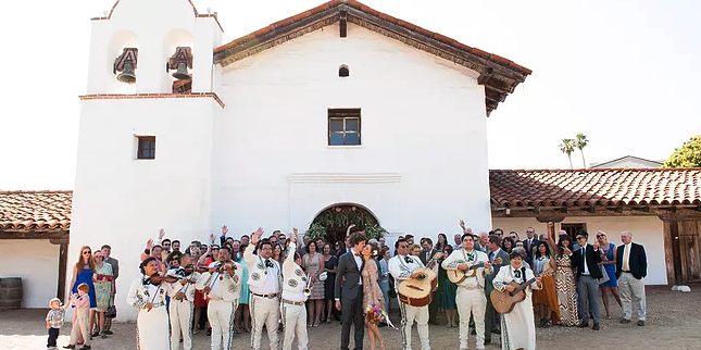 Presidio Chapel - Santa Barbara wedding Santa Barbara