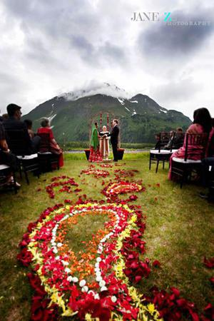 Seward Windsong Lodge wedding Alaska