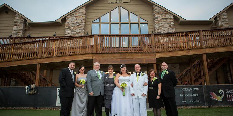 Liberty Mountain Snowflex Centre wedding Southwest Virginia