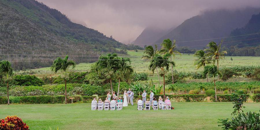 The Mill House at Maui Tropical Plantation wedding Maui