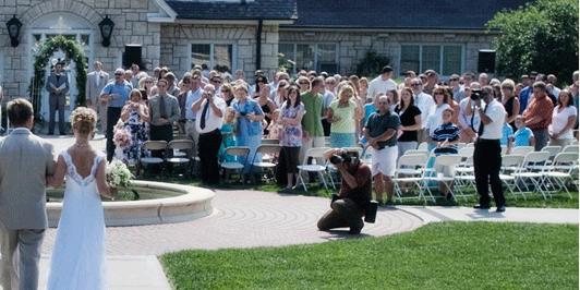 Kansas State University Gardens wedding Kansas City