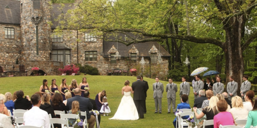 The Castle on Stagecoach wedding Arkansas