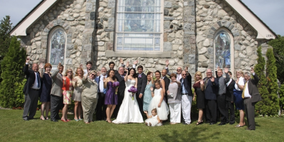 Little Stone Church wedding Mackinac Island