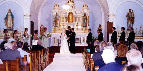 St. Peter and Paul Chapel wedding Des Moines