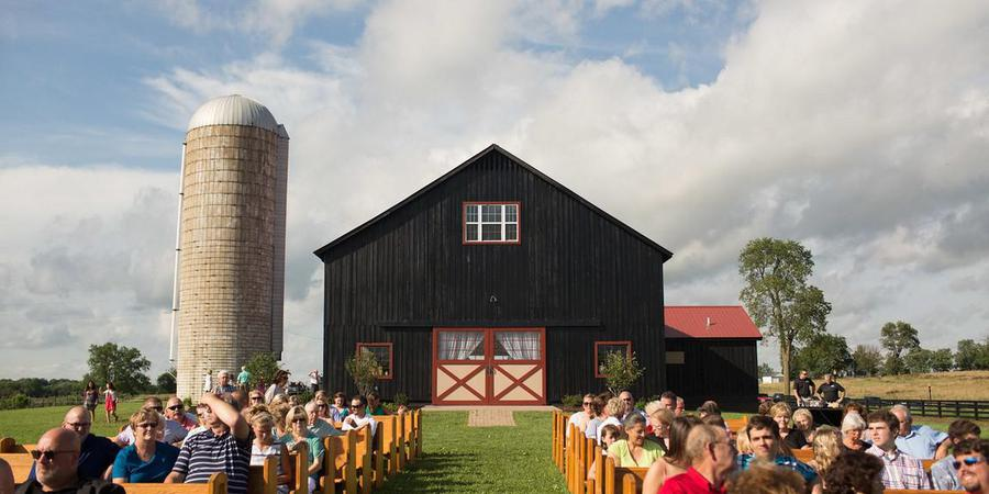 The Event Barn At Evans Orchard wedding Lexington