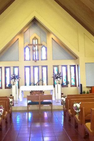 Sacred Hearts Mission Church wedding Maui