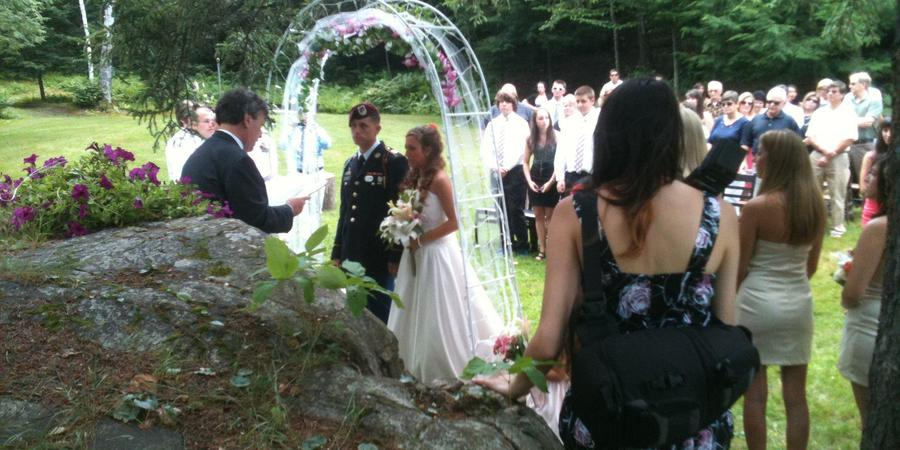 The Woods Lodge wedding Vermont