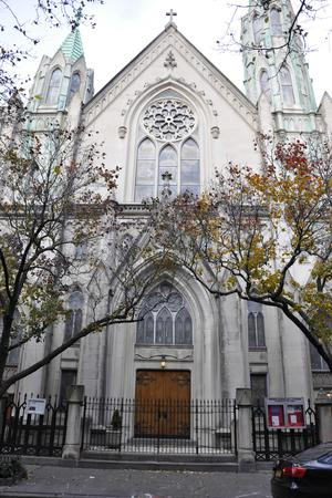 Neo-Gothic Church in Chelsea wedding Manhattan