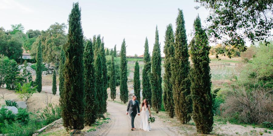 Milagro Winery wedding San Diego