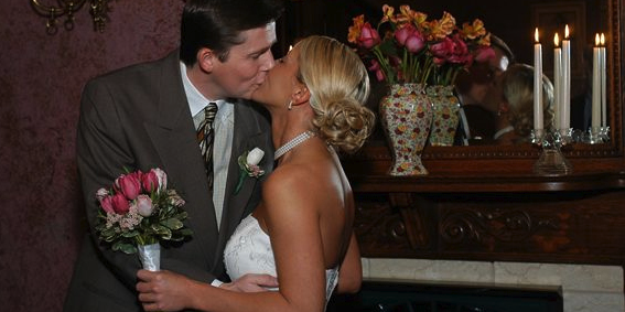 Angel at Rose Hall Bed & Breakfast wedding Arkansas