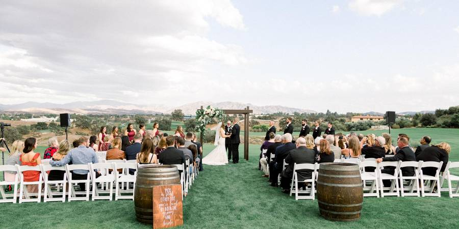 The Oaks Club at Valencia wedding Los Angeles