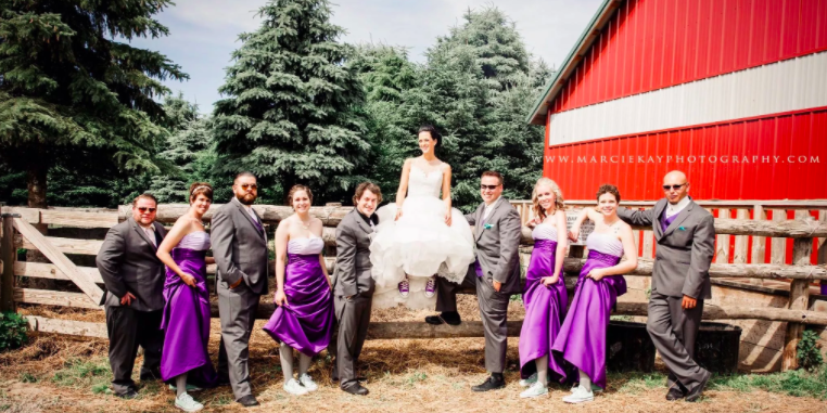 Peacock Road Family Farm wedding Lansing