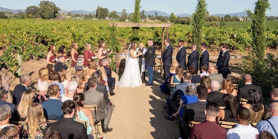 Pellegrini Wine Company, a Milestone property wedding Napa/Sonoma