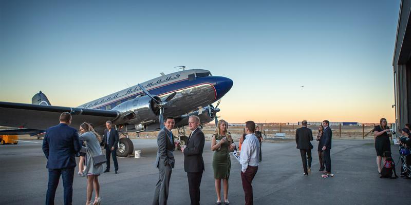 Wings Over the Rockies Boeing Blue Sky Aviation Gallery wedding Denver