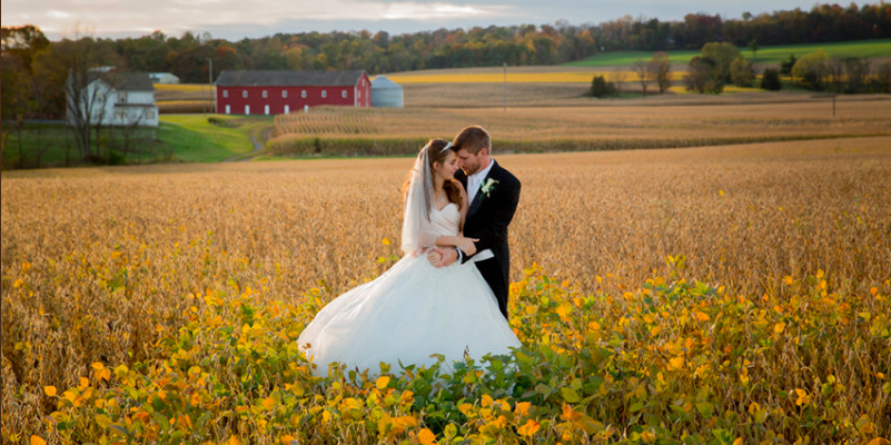 Harvest View Barn at Hershey Farms wedding Central PA