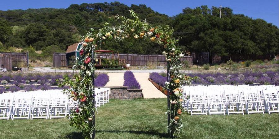 The Lavender Labyrinth and Flower Gardens wedding Napa/Sonoma