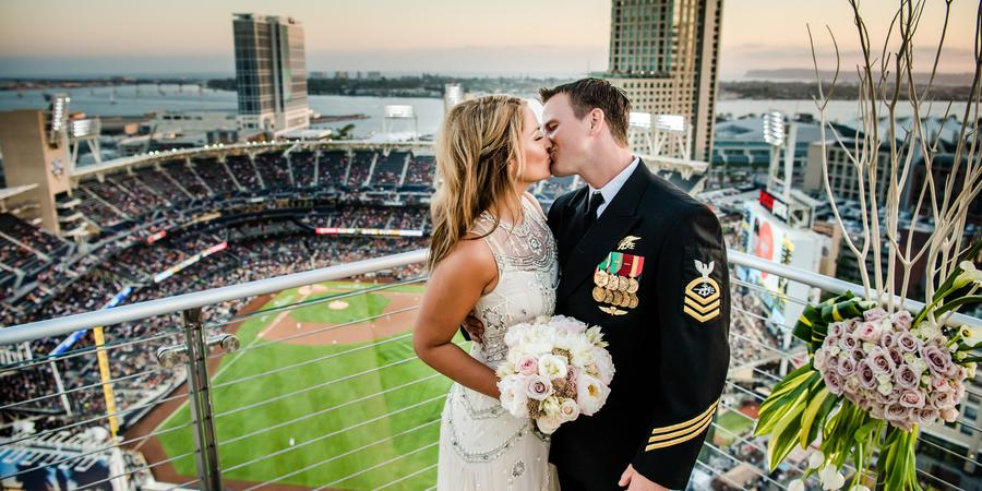 The Ultimate Skybox at DiamondView Tower wedding San Diego