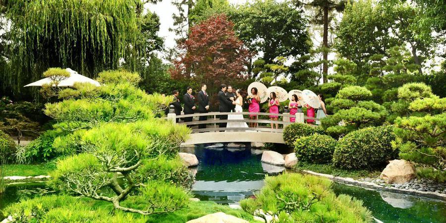 Earl Burns Miller Japanese Garden wedding Los Angeles