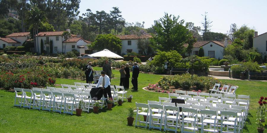 Mission Rose Garden wedding Santa Barbara