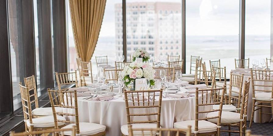 The Harbour Room at Boston College Club wedding Boston