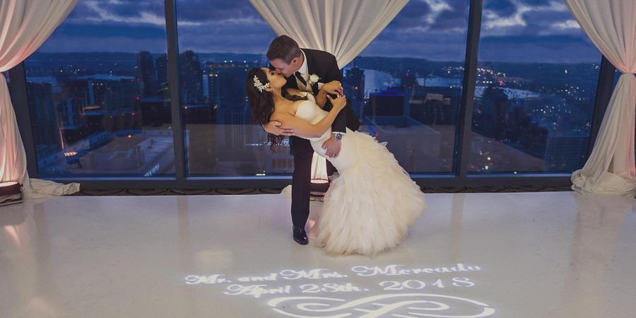 The University Club atop Symphony Towers wedding San Diego