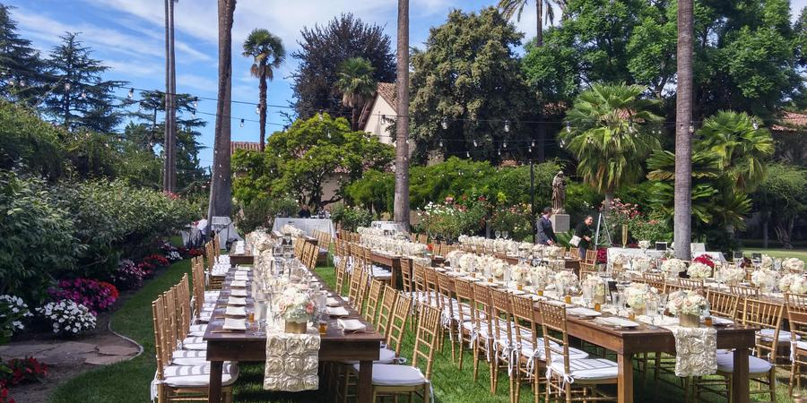 Adobe Lodge at Santa Clara University wedding South Bay