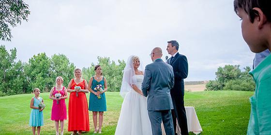 Weddings at Lakewood Fox Hollow Golf Course wedding Denver