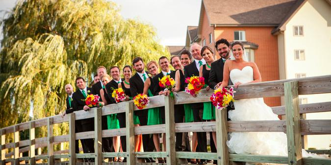 Bridges of Poplar Country Club wedding Chicago