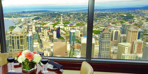 The Columbia Tower Club wedding Seattle