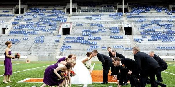 Colonnades Club at Memorial Stadium wedding Central Illinois