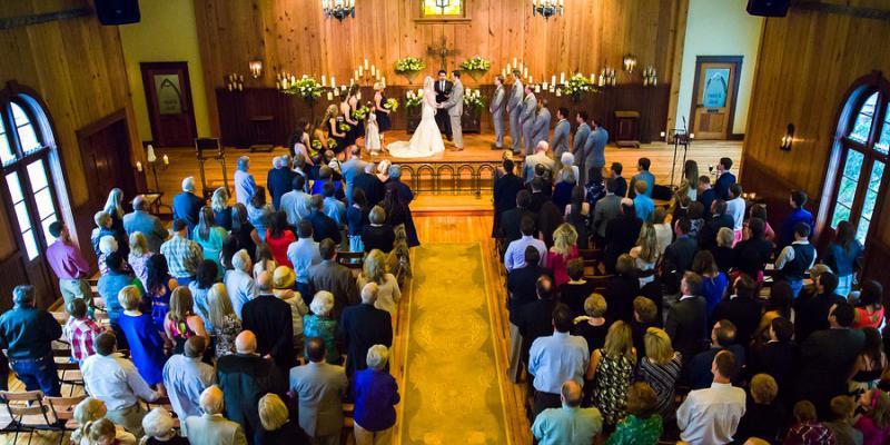 Chapel Hall at Old Glory Ranch wedding Austin