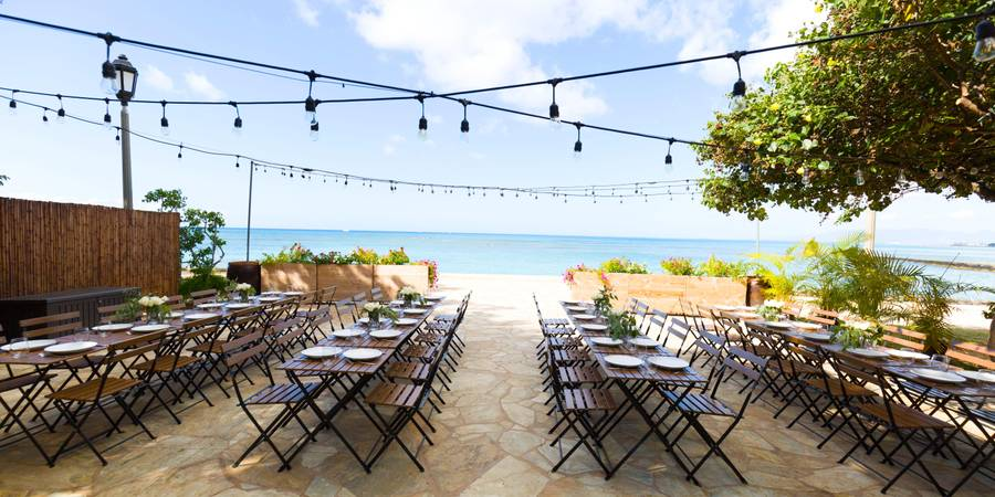 Barefoot Beach Cafe wedding Oahu