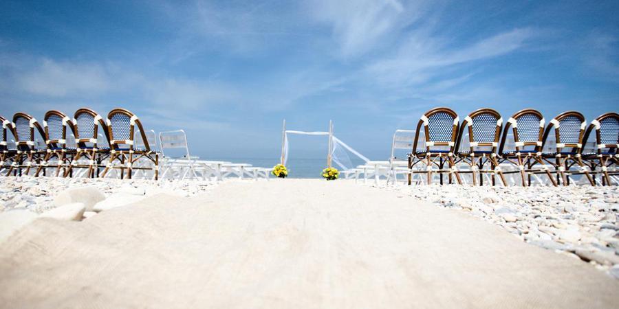 Navy Beach wedding Hamptons