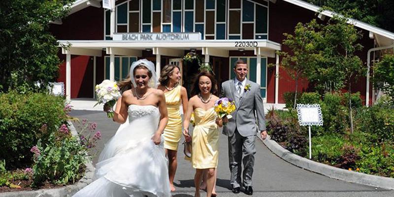 Beach Park Auditorium wedding Seattle
