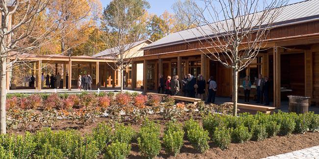 David Rubenstein Visitor Center wedding Charlottesville